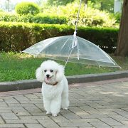 LESYPET Pet Umbrella Dog Umbrella With Leash, Fits 20″ Pet's Back Length
